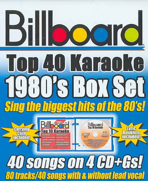 BILLBOARD 1980'S TOP 40 KARAOKE BOX S BY SYBERSOUND (CD)